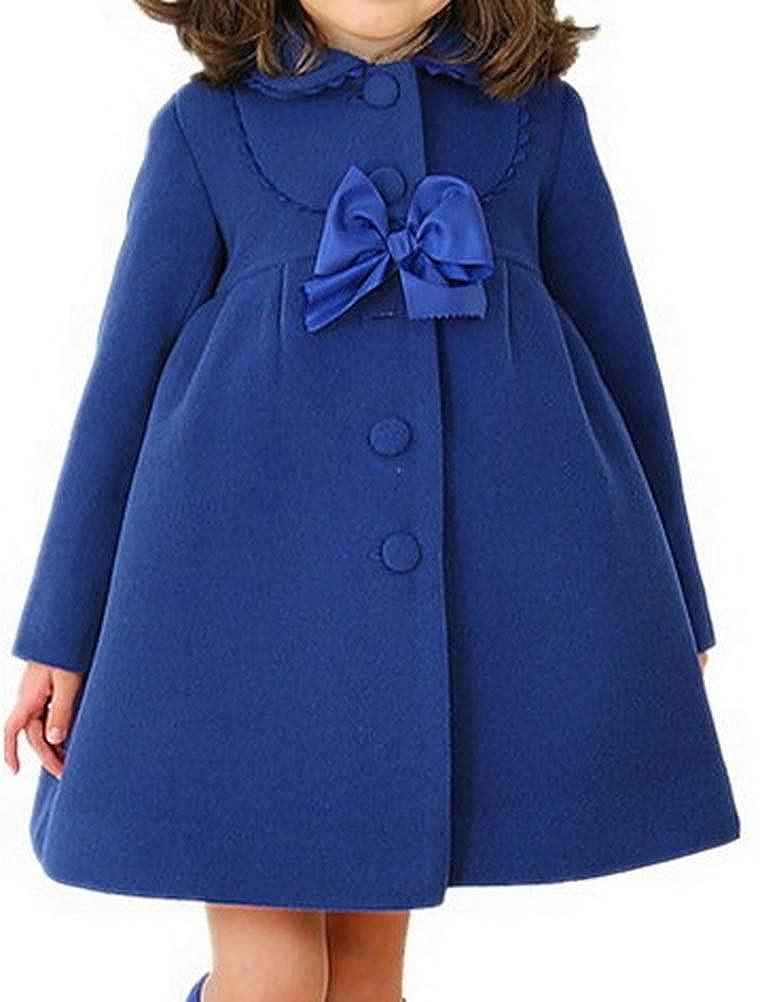 ARAUS Mantello del Cappotto di Lana Invernale della Pelliccia Bambina Abbigliamento Giacca
