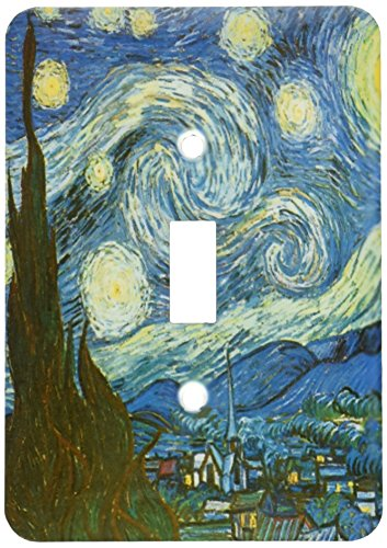 - 3dRose lsp_164649_1 Starry Night by Van Gogh Vintage Light Switch Cover