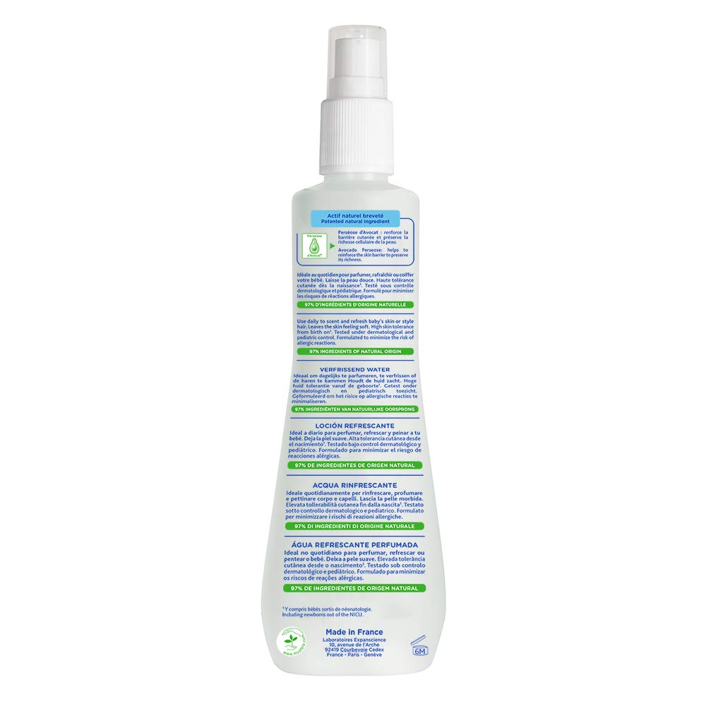 Mustela Skin Freshener, Freshen Skin and Style Hair, for Baby, with Natural Avocado Perseose, 6.76 Ounce