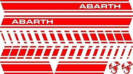 Adesiviautoemoto - Kit de adhesivos, diseño de Abarth rojo brillante