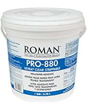 Roman Products Roman 012401 PRO-880 Ultra Clear Adhesive, 1 gal, 330 Sq. Ft, White