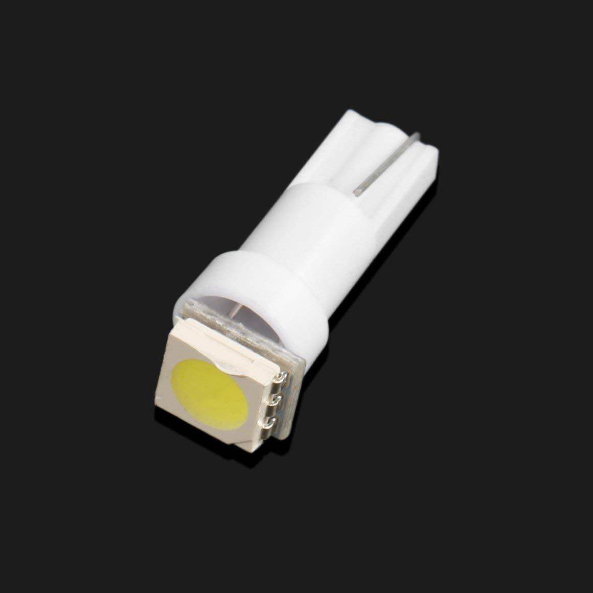 set T5 5050 1SMD Tablero de instrumentos LED L/ámpara de cu/ña Bombilla universal Interior del coche Fuente de luz LED con 1pc LED Color: blanco Funnyrunstore 20pcs