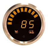 VEI Systems orange/silver vacuum-boost gauge with internal sensor