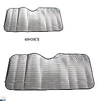 LiPing Casual Foldable Car Windshield Visor Cover Front Rear Block Window Sun Shade Powerful UV-blocking Spf
