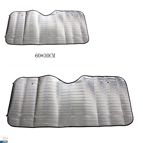 (LiPing Casual Foldable Car Windshield Visor Cover Front Rear Block Window Sun Shade Powerful UV-blocking Spf)