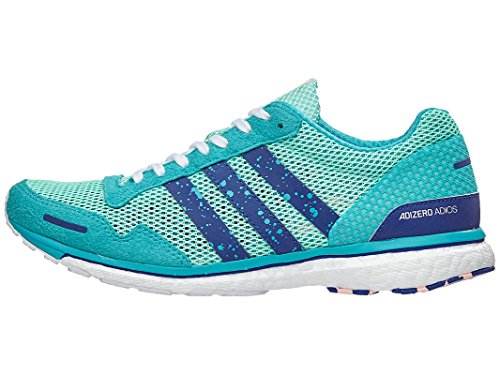 adidas Women's Adizero Adios 3 Running Shoe, Clear Mint/Mystery Ink/hi-res Aqua, 10.5 M US