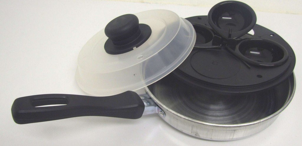 3 HOLE EGG POACHING POACHER PAN WITH REMOVABLE INSERTS NTI