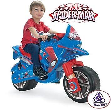 Spiderman Moto Claws Spiderman A Bateria 6v Para Ninos De 3 Anos Con Puno Acelerador Para Simular Las Motos De Verdad 64760