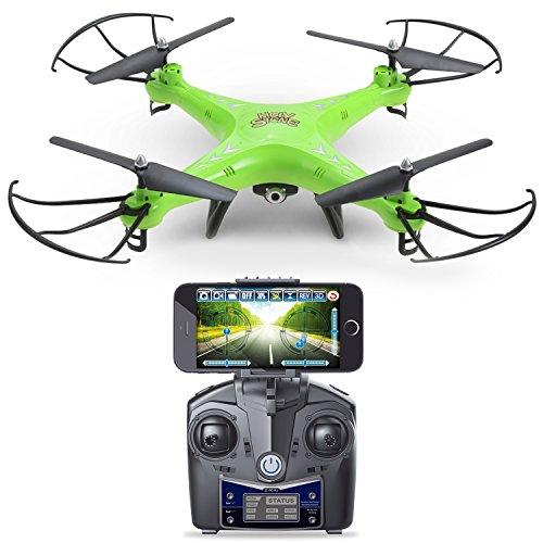 Holy Stone HS110 FPV Drone With 720P HD Live Video WiFi Camera 24GHz 4CH 6 Axis Gyro RC Quadcopter Altitude Hold Gravity Sensor And Headless Mode