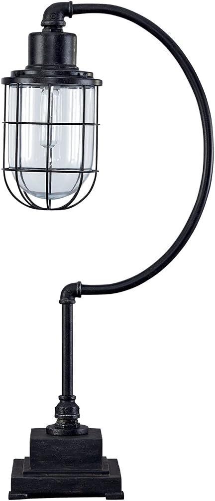 Ashley Furniture Signature Design - Jae Metal Desk Lamp - Industrial - Retro - Antique Black