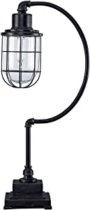 Ashley Furniture Signature Design - Jae Metal Desk Lamp - Industrial - Retro - Antique Black
