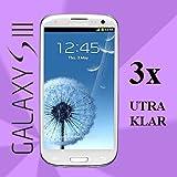 3x Schutzfolie GLAR Samsung GALAXY S3 i9300 Display Schutz Folie Displayfolie