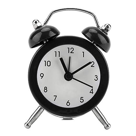 GLOGLOW Despertador, Moda portátil Mini Metal Reloj ...