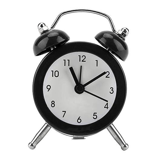 GLOGLOW Despertador, Moda portátil Mini Metal Reloj Despertador ...