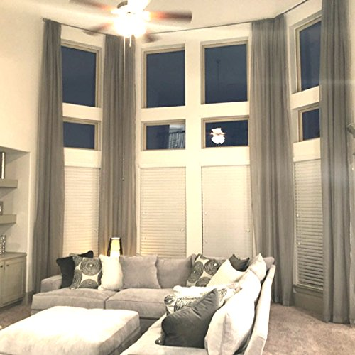 Ikiriska 2 Long Curtains for high Ceiling, Custom Made Length 16-24 feet Drapes ()