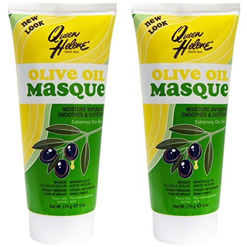 (Queen Helene Olive Oil Masque (Pack of 2) with Kaolin Clay, Bentonite Clay, Mineral Oil, Lanolin Oil, Olive Oil, Avocado Oil, Matricaria Flower Extract and Sage Leaf Extract, Cruelty-free, 6)