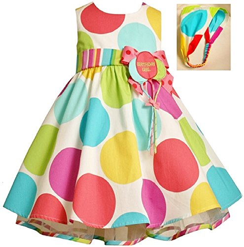 Bonnie Baby Large Dots Birthday Dress with Headband, 18 Months ()