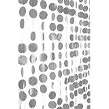 ShopWildThings Beaded Curtain Spangles Silver Metallic PVC