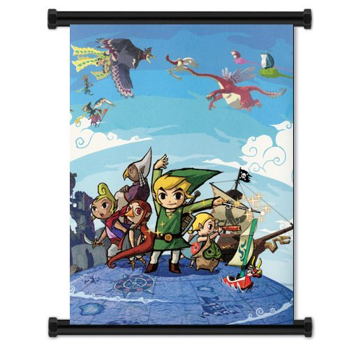Legend of Zelda Wind Waker Game Fabric Wall Scroll Poster  I