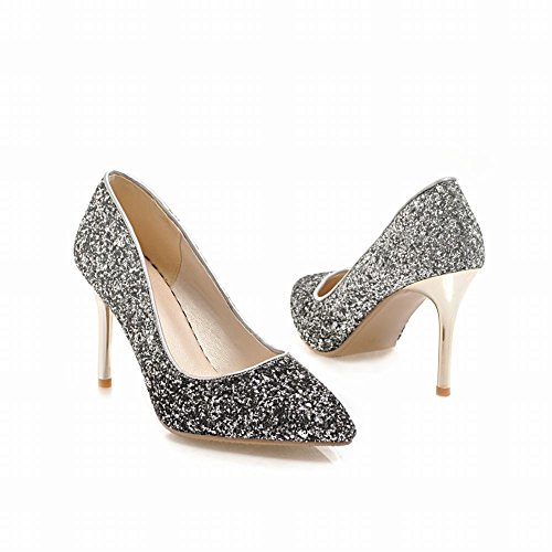 Sequins Carolbar High Shoes Customize Women s Name Bling silver Wedding  Heel Bling Black qOqZ1gwC 958b14bf31c3