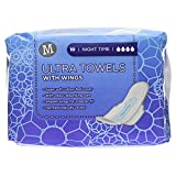 Morrisons Night Time Ultra Towels with Wings, 10 Towels