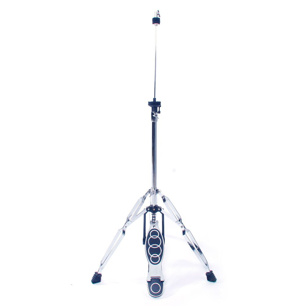 Professional Pedal Control Style Drum High Hat Cymbal Stand with Pedal, adjustable, Silver & Black Yoshioe