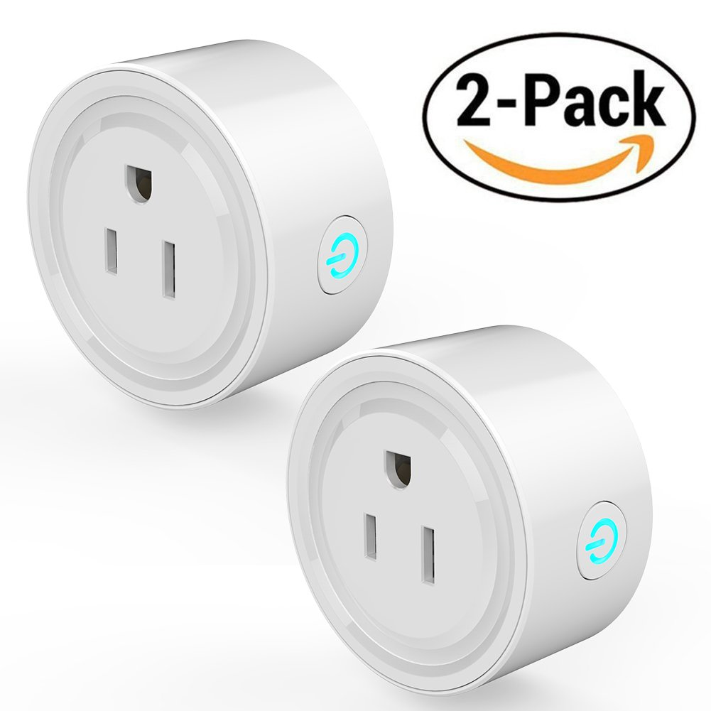 WiFi Smart Plug Timer Outlet, Wireless Electrical Outlets Work with Alexa/Google Home (2 pack)