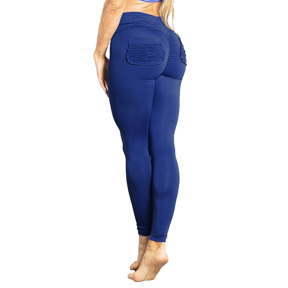 Meeshine Womens Hip Push Up High Waist Ruched Booty Yoga Pants Sport Workout Tights Stretchy Leggings Running Skinny Trousers