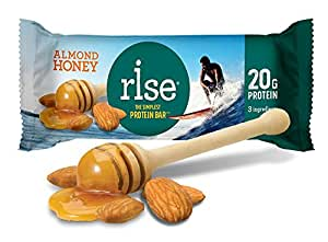 Rise Simplest Protein Bar, High-Protein Bars, Almond Honey, 12-Count