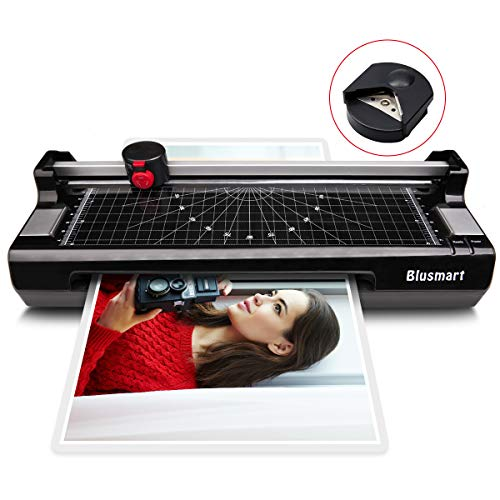 4 in 1 Blusmart OL288 Laminator, A4, Rotary Trimmer/Corner Rounder/10 Laminating Pouches, Black4 by Blusmart
