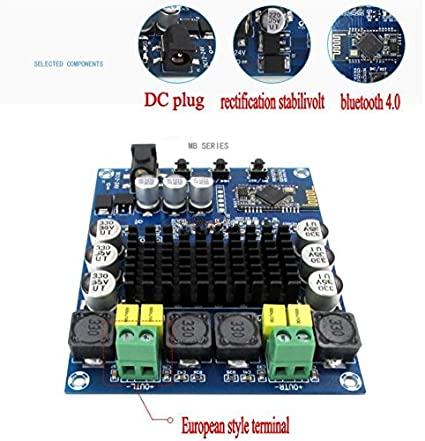 Amazon.com: Diymore TPA3116D2 120W x 2 Wireless Bluetooth 4.0 Audio Receiver Digital Amplifier Board: Home Audio & Theater