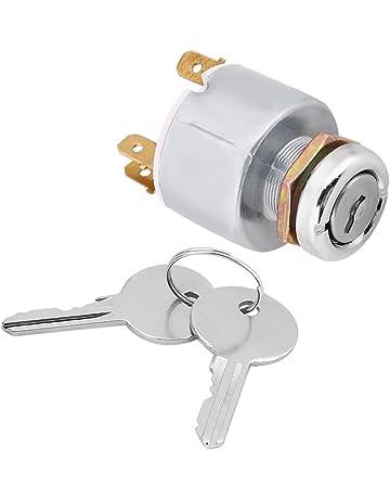Qiilu 12V Universal 4 Posición ENCENDIDO APAGADO Comience Ignición Controles de Interruptor con 2 Llaves SPB501
