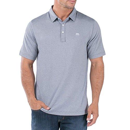 Straight Bottom Polo Top - Travis Mathew TravisMathew Mens The Zinna Polo Grey Pinstripe/White 2XL One Size