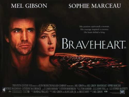Amazon.com: Braveheart Cartel 30 x 40 Mel Gibson Sophie ...