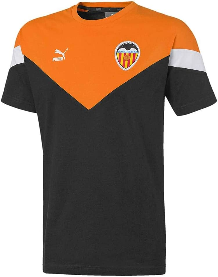 Puma Vcf Iconic MCS tee Camiseta, Hombre, Black-Vibrant Orange White, M: Amazon.es: Deportes y aire libre