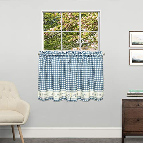 Sweet Home Collection Kitchen Window Curtain Tier, Swag, or Valance Treatment in Stylish and Unique Patterns and Designs for All Home Décor 24