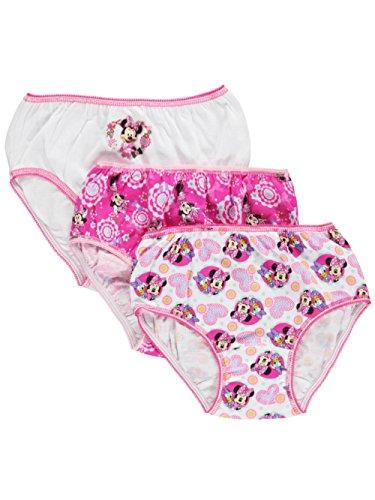 Disney Minnie Mouse 3 Pair Girls Panties (Size 6)