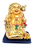 Feng Shui Chinese Happy Buddha (Laughing Buddha) Or Money Buddha On Money Bag