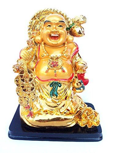 Feng Shui Chinese Happy Buddha (Laughing Buddha) Or Money Buddha On Money Bag