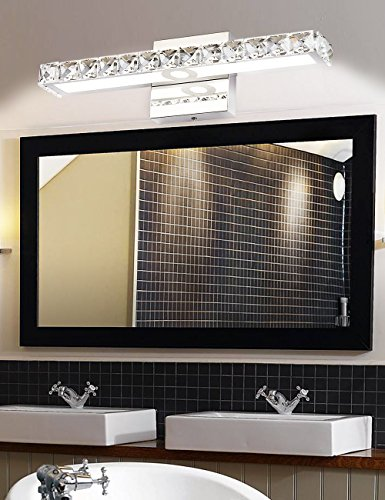Led vanity lights solfart crystal wall mirror vanity light - Best lighting for bedroom vanity ...