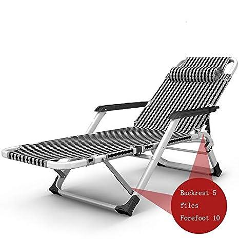 DKJH Tumbonas, sillas Plegables para el Almuerzo, sillas de ...