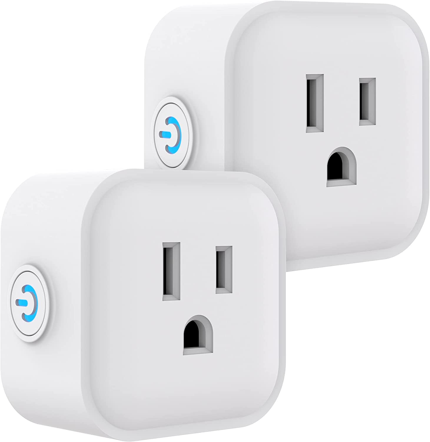 UltraPro Smart Plug WiFi Outlet Works With Alexa, Echo & Google Home, No Hub Required, App Controlled, ETL Certified 2 pack, 51410