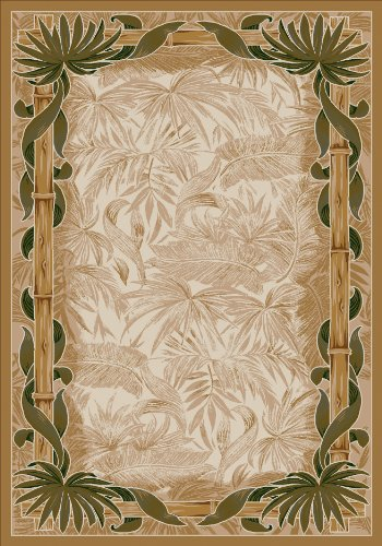 "Milliken TOP 30 Montego Area Rug Linen/5'4"" x7'8/Rectangle/Nylon/Beige"