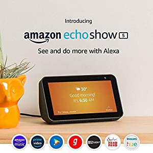 """Introducing Echo Show 5 - See and do more with Alexa on 5.5"""" screen (Black)"""