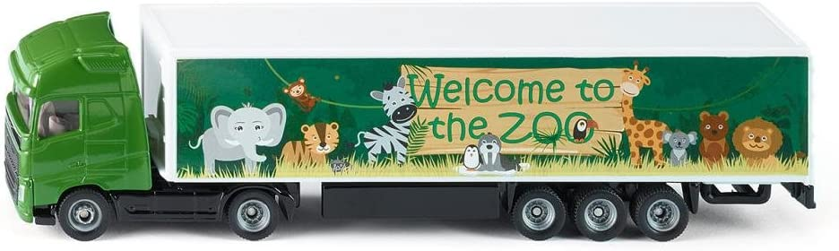 SIKU 1627, Camión articulado, Metal/Plástico, 1:87, Verde, Ruedas de goma, Apertura de portón posterior