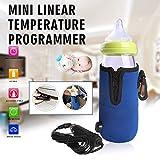 Portable Travel Bottle Warmer for Babies, Feeding Bottle Insulation Sleeve Car Feeding Bottle Heater for Breastmilk (Blue)