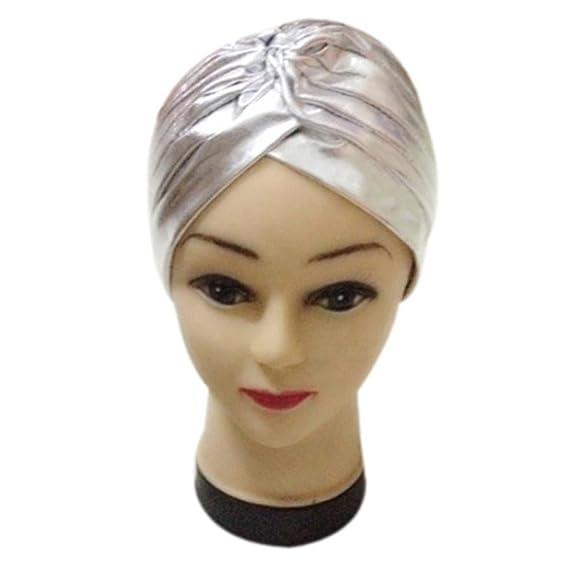 squarex Sombrero de poliéster Plisado y elástico para bañarse en Turbante 7472acce772