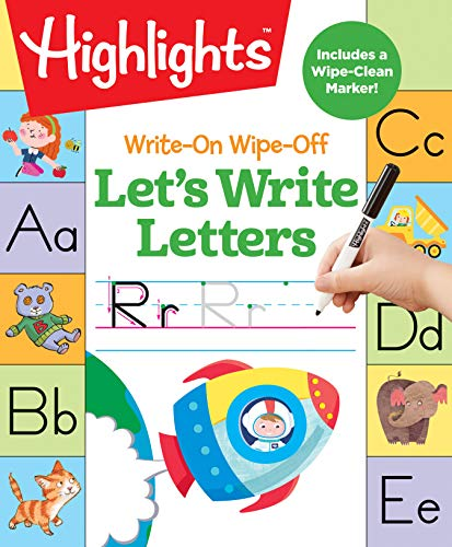 (Write-On Wipe-Off Let's Write Letters (HighlightsTM  Write-On Wipe-Off Fun to Learn Activity Books) )