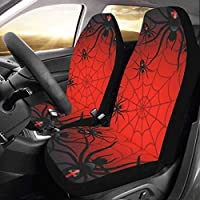 Artsadd Halloween Spider Car Seat Covers (Set of 2) Best Automobile Seats Protector