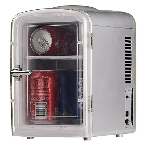 Generic DC12V ABS Mini Truck Car Compact Refrigerator AC110V Thermoelectric Cooler Warmer Fridge Travelling Camping Soda Camper by SMETA (Image #4)'